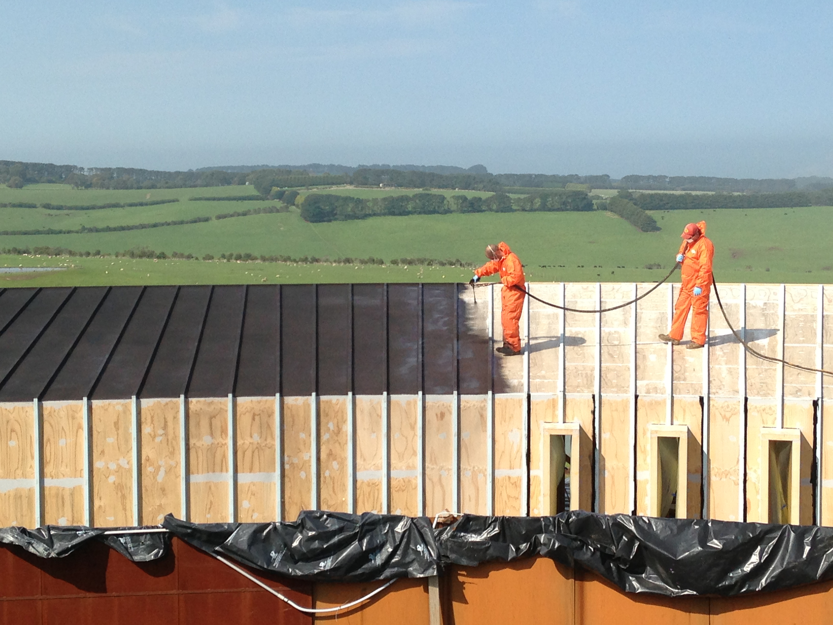waterproofing flat timber roof